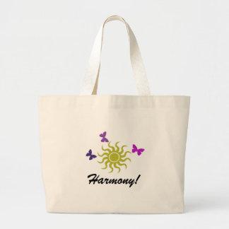 Harmony Sun and Butter Fly Bag! Jumbo Tote Bag