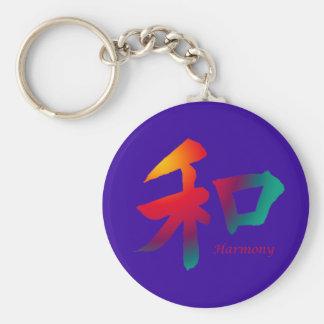 Harmony Symbol Basic Round Button Key Ring