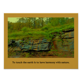 harmony with nature poster