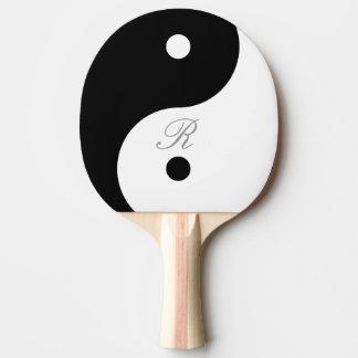 Harmony Yin Yang Monogram Ping Pong Bat Ping Pong Paddle