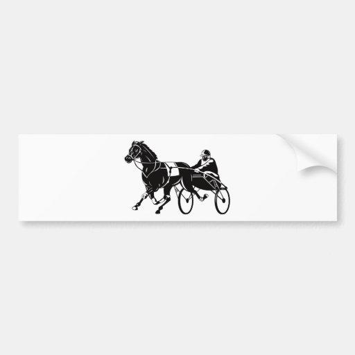 harness cart horse racing sulkies bumper sticker