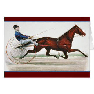 Harness Horse Racer - Vintage Fine Art Greeting Card
