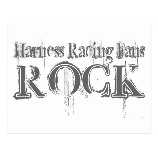 Harness Racing Fans Rock Post Card