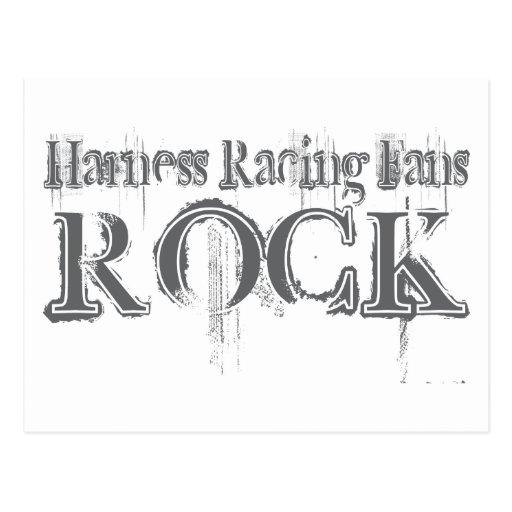 Harness Racing Fans Rock Post Card