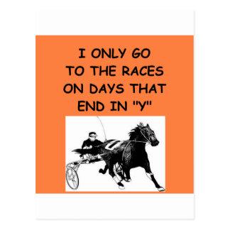 harness racing postcards