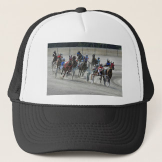 Harness Racing Rounding Last Turn Ball Cap