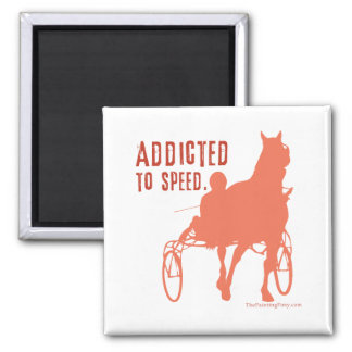 Harness Racing Square Magnet