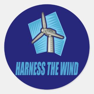 Harness the Wind Classic Round Sticker