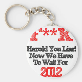 harold basic round button key ring