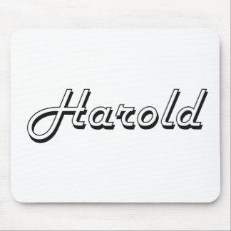 Harold Classic Retro Name Design Mouse Pad