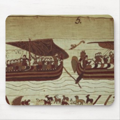 Harold crosses the Channel with sails full of Mousepads