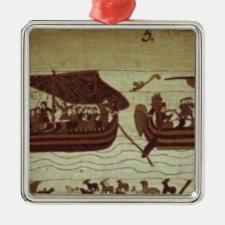Harold crosses the Channel with sails full of Silver-Colored Square Decoration