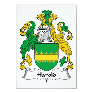 Harold Family Crest Personalized Announcement