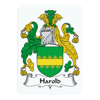 Harold Family Crest Personalized Invitations