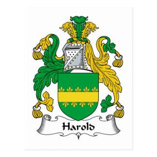Harold Family Crest Postcards