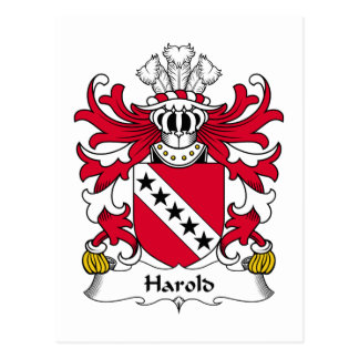 Harold Family Crest Postcard