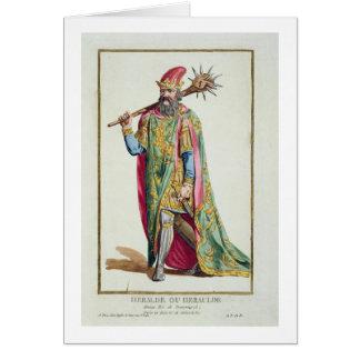 Harold, King of Denmark from 'Receuil des Estampes Greeting Card
