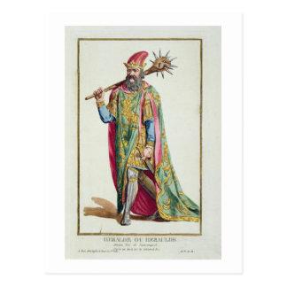 Harold, King of Denmark from 'Receuil des Estampes Postcard