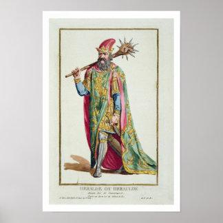 Harold, King of Denmark from 'Receuil des Estampes Poster