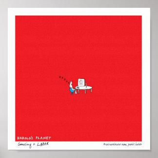 Harold s Planet Procrastinate now Panic later Poster