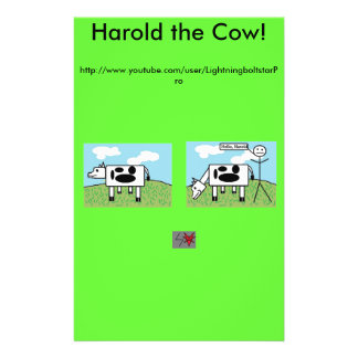 Harold the Cow Fliers Full Color Flyer