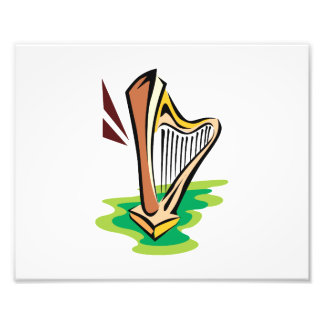 harp abstract with green png art photo