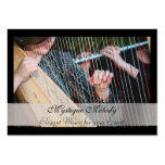 Harp and Flute Elegant Music Business Card