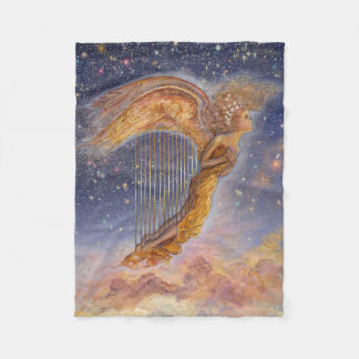 Harp Angel Fleece Throw