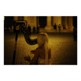 Harp classical instrument poster