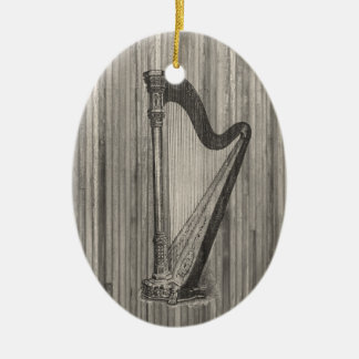 Harp Engraving Pendant Ornament