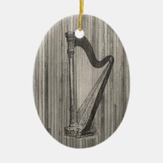 Harp Engraving Pendant Ornament