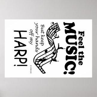Harp Feel The Music Poster