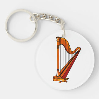 harp graphic pedal.png Double-Sided round acrylic key ring