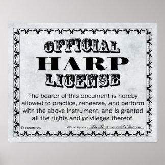 Harp License Poster