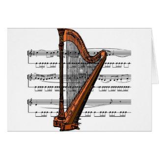 Harp musical 02 B Greeting Card