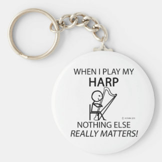 Harp Nothing Else Matters Basic Round Button Key Ring