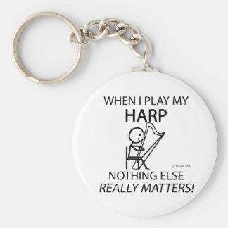 Harp Nothing Else Matters Key Ring