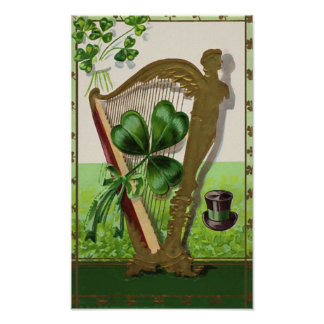Harp of Erin Vintage St. Patrick's Day Posters