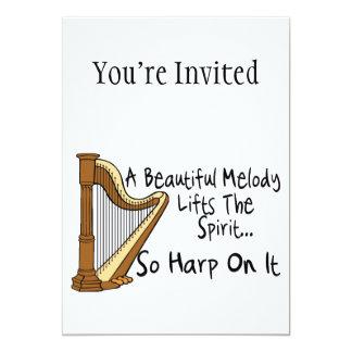 Harp On It 5x7 Paper Invitation Card
