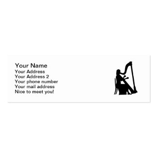 Harp player business cards