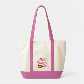 Harp Player Funny Gift Tote Bags