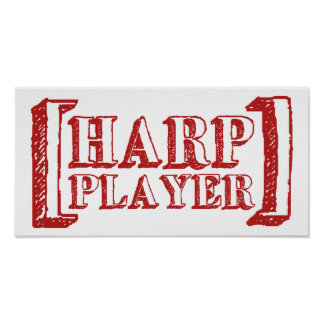Harp Player Posters