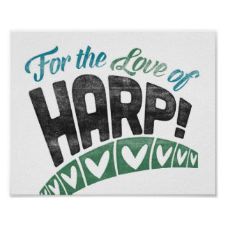 Harp Poster Fun Music Art Print