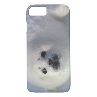 Harp seal Phoca groenlandica) A week-old harp iPhone 7 Case