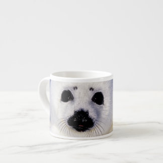 Harp seal pup ice Gulf of St. Lawrence, Espresso Cup