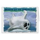 HARP SEAL VALENTINE Card