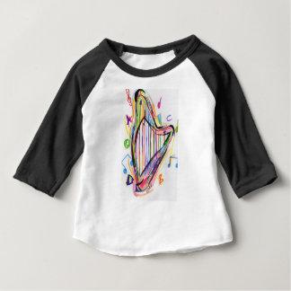 Harp Sketch - Rainbow Baby T-Shirt