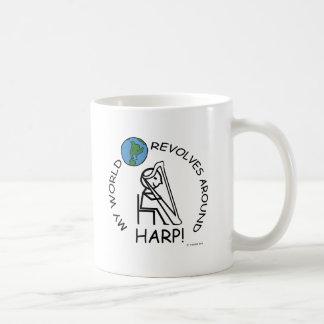 Harp - World Revolves Around Coffee Mug