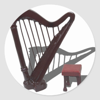 HarpAndBench121210 Classic Round Sticker