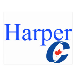 Harper Conservative Party Logo Postcard